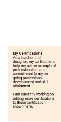 About my industry certifications.