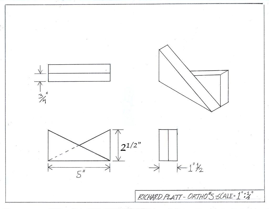 manual orthographic isometric drawing 5